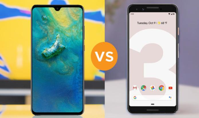 Huawei Mate 20 vs Google Pixel 3 specs comparison