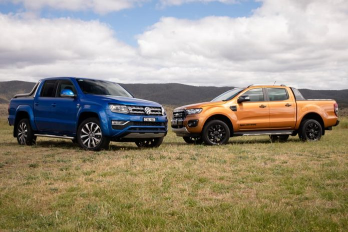 2018 Ford Ranger Wildtrak Biturbo v Volkswagen Amarok TDI 580 Ultimate Comparison