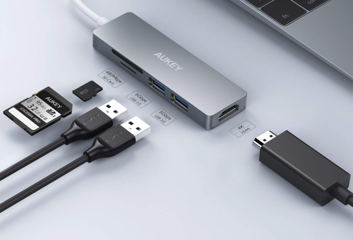 AUKEY CB-C72 Aluminum 5-in-1 USB-C Hub Review