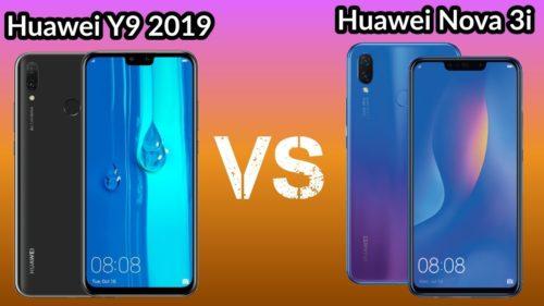 Huawei Y9 (2019) vs Huawei Nova 3i specs comparison