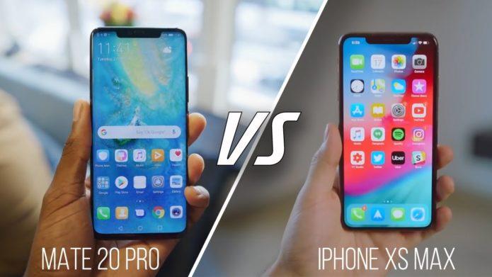 Huawei Mate 20 Pro vs Apple iPhone Xs Max Comparison
