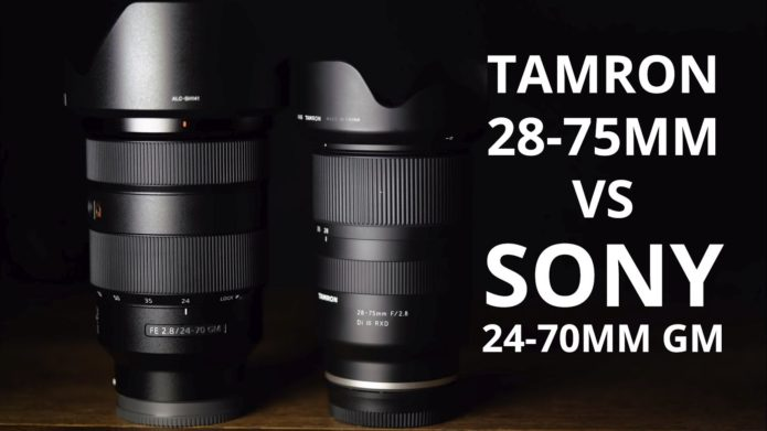 Tamron 28-75 f/2.8 vs Sony 24-70mm GM : Lens Comparison Video