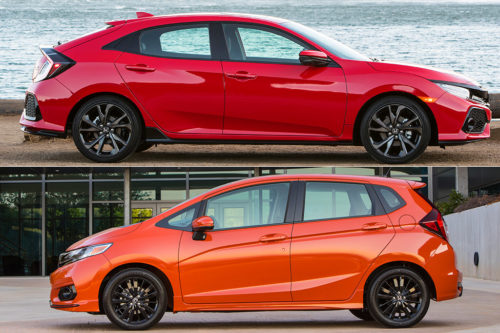2018 Honda Civic vs. 2018 Honda Fit: What's the Difference?
