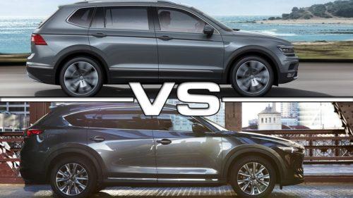 2018 Volkswagen Tiguan Allspace v Mazda CX-8 comparison — 140TDI v Asaki: A seven-seater face-off