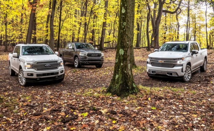 2019 Chevrolet Silverado 1500 High Country vs. 2019 Ford F-150 Limited vs. 2019 Ram 1500 Limited : Comparison Test