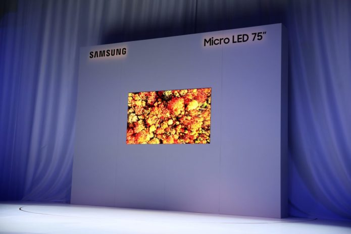 Samsung 75-inch MicroLED first look