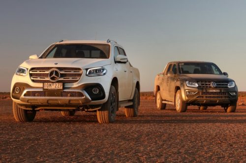 Mercedes-2019 Benz X 350d 4MATIC Power v 2019 Volkswagen Amarok V6 Ultimate 580 Comparison