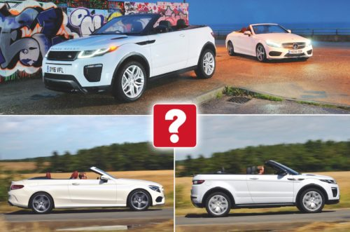 Used test: Mercedes-Benz C-Class Cabriolet vs Range Rover Evoque Convertible