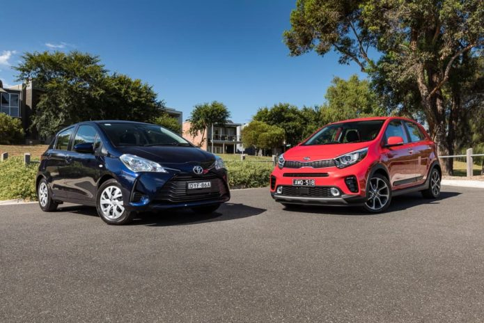 2019 Kia Picanto AO Edition v Toyota Yaris Ascent Comparison