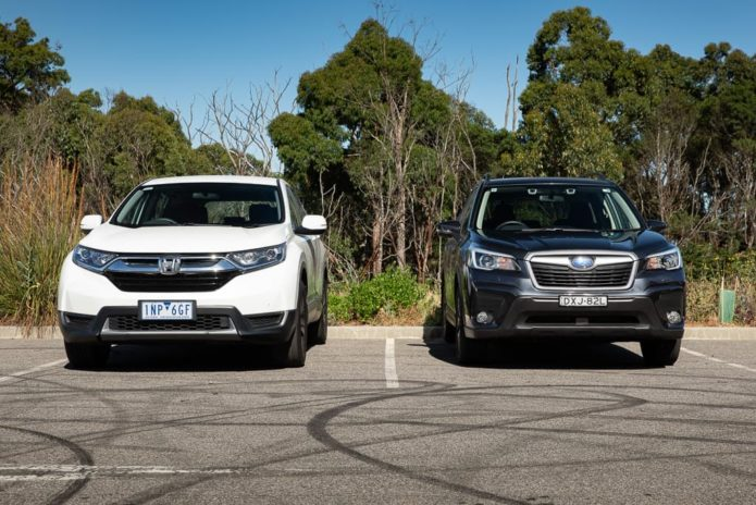 2019 Honda CR-V Vi v Subaru Forester 2.5i Comparison