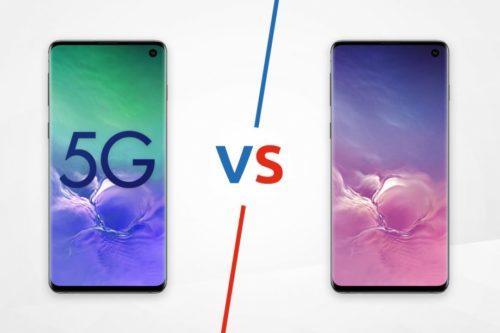 Samsung Galaxy S10 5G vs Galaxy S10