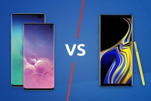 Samsung Galaxy S10 / S10 Plus vs Samsung Galaxy Note 9