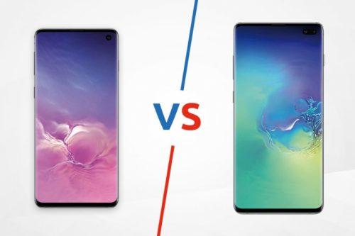 Samsung Galaxy S10 vs Samsung Galaxy S10 Plus