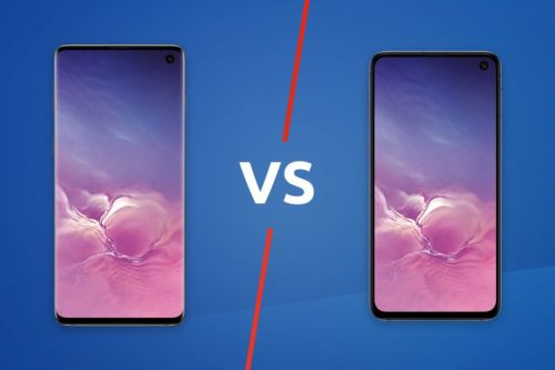 Samsung Galaxy S10 vs Samsung Galaxy S10e
