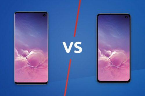 Samsung Galaxy S10 vs Samsung Galaxy S10e