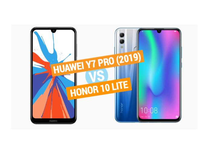 Huawei Y7 Pro (2019) vs Honor 10 Lite specs comparison