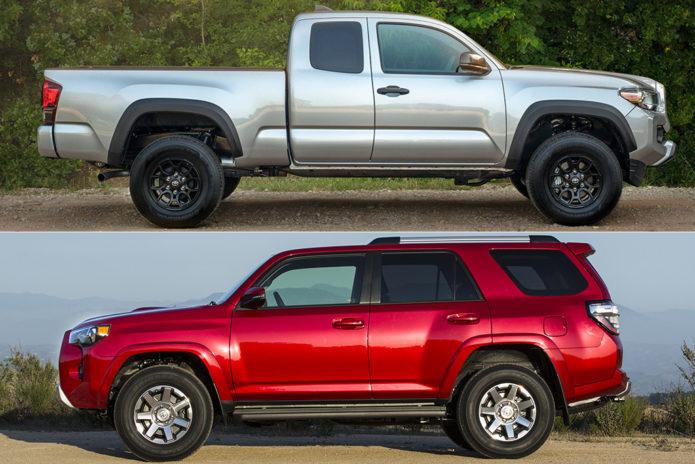 2019 Toyota 4Runner vs. 2019 Toyota Tacoma