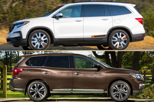 2019 Honda Pilot vs. 2019 Nissan Pathfinder: Which Is Better?
