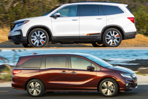 2019 Honda Pilot vs. 2019 Honda Odyssey: What's the Difference?