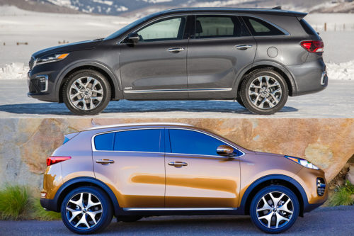 2019 Kia Sorento vs. 2019 Kia Sportage: What's the Difference?