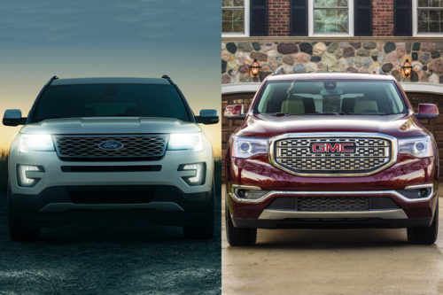 2019 Ford Explorer vs. 2019 GMC Acadia: Which Is Better?
