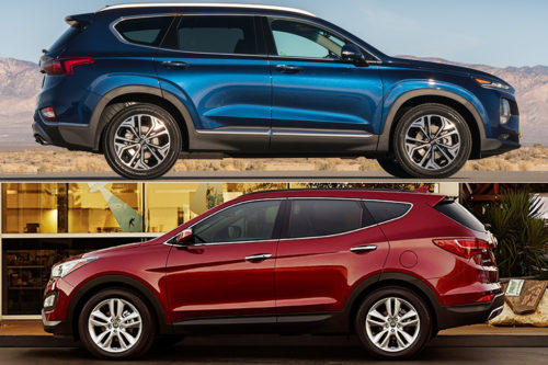 2019 Hyundai Santa Fe vs. 2018 Hyundai Santa Fe Sport: What's the Difference?