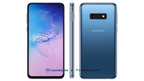 Galaxy S10, S10e try to look cool in Blue renders