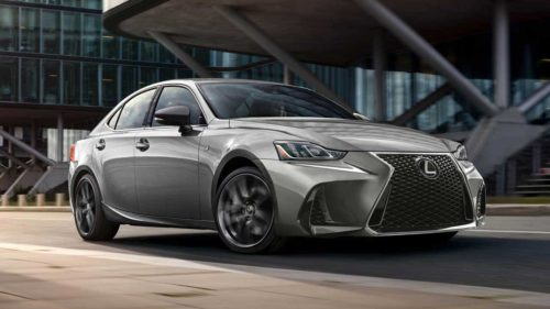 Lexus IS 300 F Sport Black Line Special Edition features black vapor chrome trim