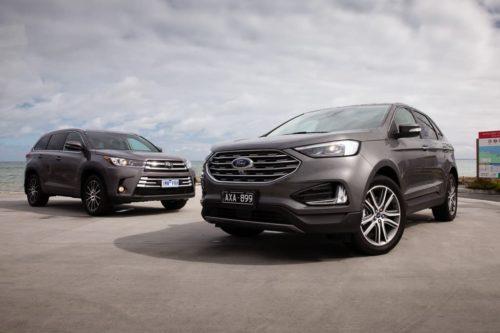 2019 Ford Endura Titanium v Toyota Kluger Grande Comparison