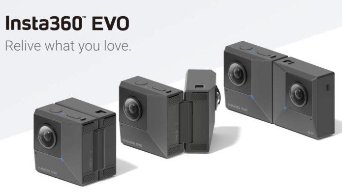 Insta360 EVO foldable camera records in 180 degrees 3D