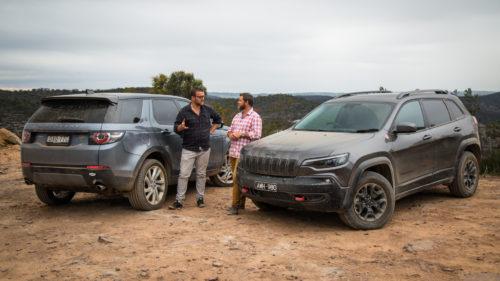 2019 Jeep Cherokee Trailhawk v Land Rover Discovery Sport Si4 comparison