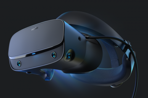 Oculus Rift S is a PC-friendly VR headset with built-in room tracking