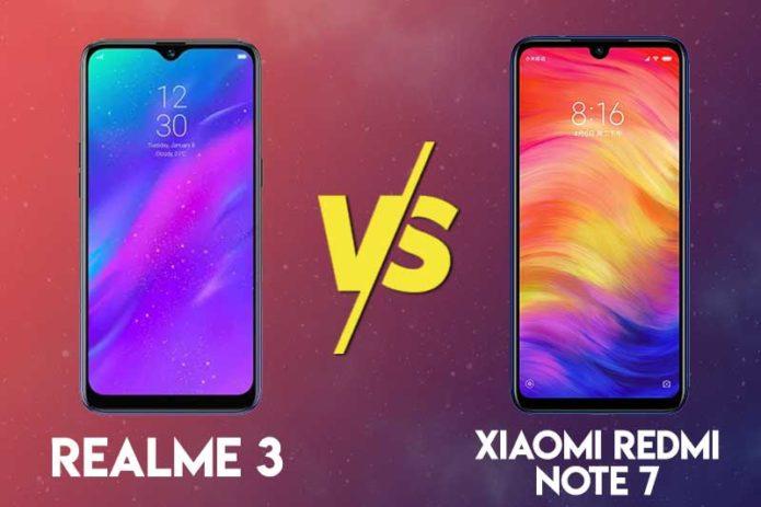 Realme 3 vs Redmi Note 7 specs comparison