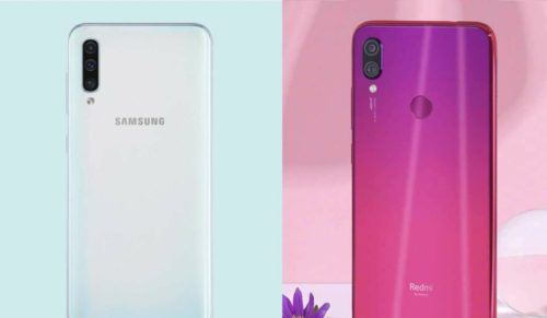 Samsung Galaxy A50 vs Xiaomi Redmi Note 7 Pro specs comparison