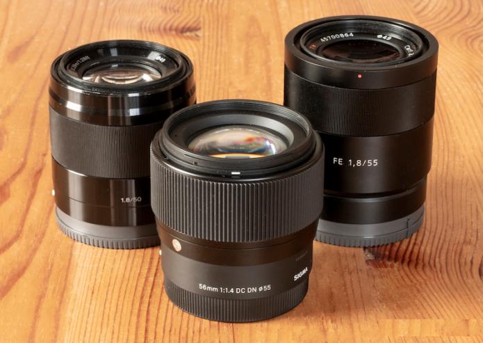 Sony E 50mm f/1.8 vs Sigma 56mm f/1.4 vs Sony FE 55mm f/1.8 – The complete comparison