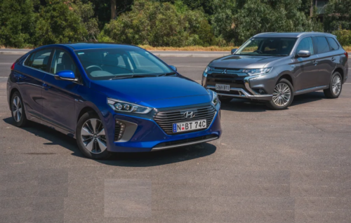 2019 Hyundai Ioniq PHEV v Mitsubishi Outlander PHEV comparison : Sub-$50,000 plug-in hybrid showdown