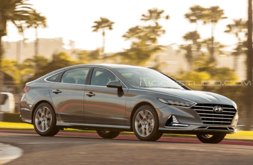 The redesigned 2020 Hyundai Sonata has a light show on its hood