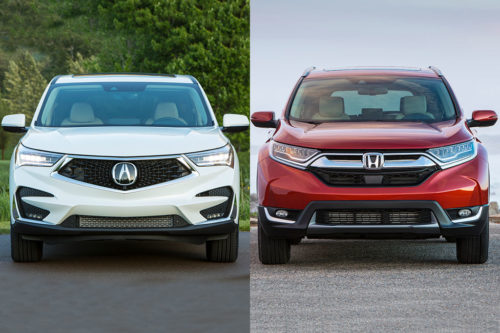 2019 Acura RDX vs. 2019 Honda CR-V: What's the Difference?