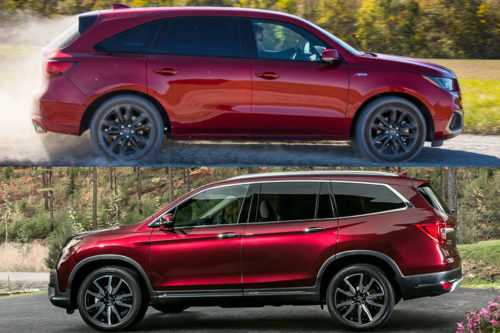 2019 Acura MDX vs. 2019 Honda Pilot: What's the Difference?