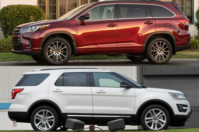 2019 Toyota Highlander VS 2019 Ford Explorer