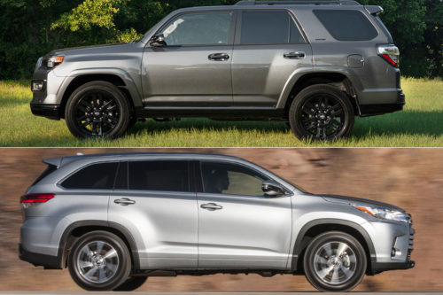 2019 Toyota 4Runner vs. 2019 Toyota Highlander: What's the Difference?