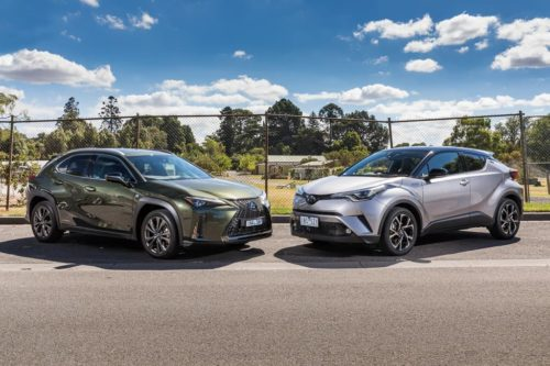 2019 Lexus UX250h F SPORT v Toyota C-HR Koba AWD Comparison