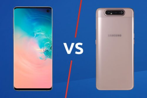 Samsung Galaxy A80 vs Galaxy S10 Comparison