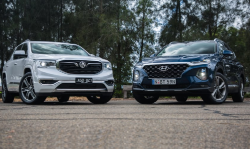 2019 Holden Acadia v Hyundai Santa Fe comparison: Big family? This pair could present a winner