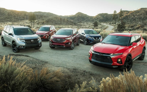 The 2019 Honda Passport and Chevrolet Blazer vs. the Ford Edge, Nissan Murano, and Hyundai Santa Fe