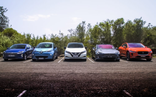 2019 electric vehicle comparison: I-Pace v Ioniq v Leaf v Model S v Zoe