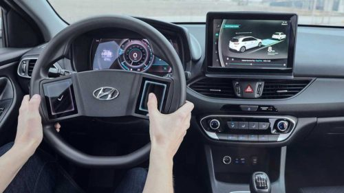 Hyundai's fancy cockpit of the future has lots of touch surfaces