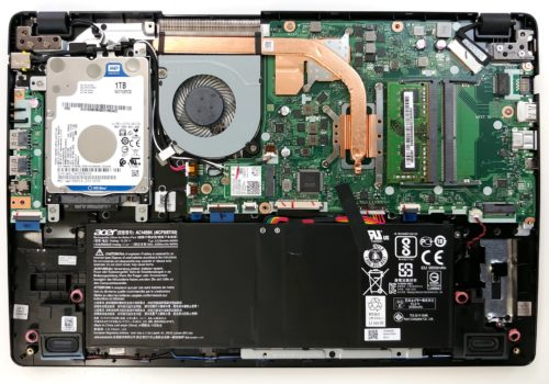 Inside Acer Aspire 5 (A515-52G) – disassembly and upgrade options