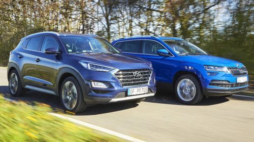 2019 Hyundai Tucson v Skoda Karoq comparison : The popular mid-sizer and the newcomer