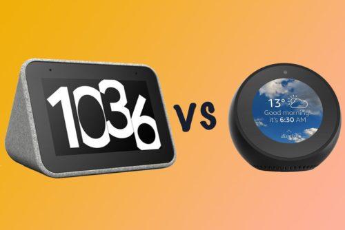 Amazon Echo Spot vs. Lenovo Smart Clock